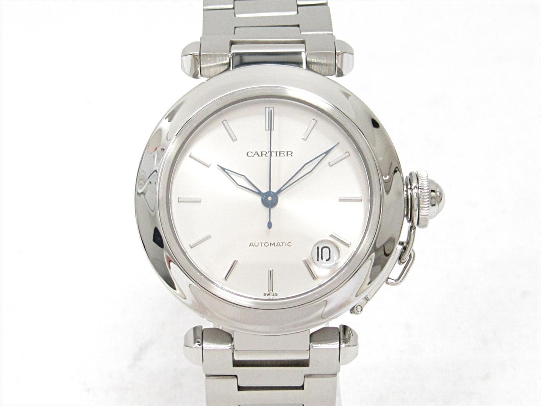 【中古】カルティエ パシャC 腕時計 ウォッチ ユニセックス ステンレススチール(SS) (W31010M7)