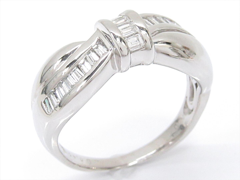 【中古】ジュエリー ダイヤモンドリング 指輪 レディース PT900 プラチナxダイヤモンド(0.45ct)