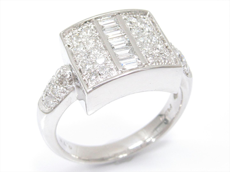 【中古】ジュエリー ダイヤモンドリング 指輪 レディース PT900 プラチナxダイヤモンド(0.76ct)