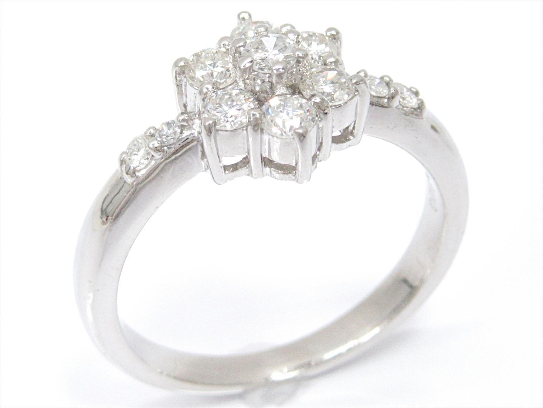 【中古】ジュエリー ダイヤモンドリング 指輪 レディース PT900 プラチナxダイヤモンド(0.53ct)