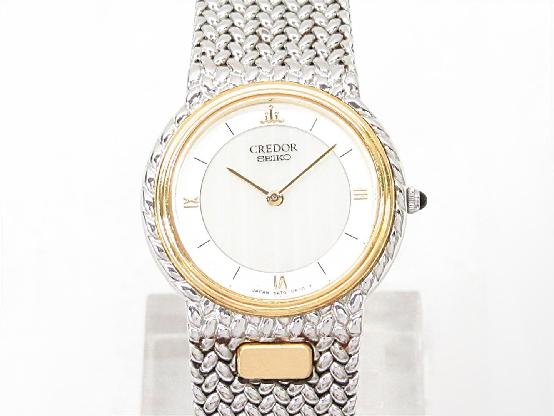【中古】セイコー クレドール 腕時計 ウォッチ レディース ステンレススチール(SS)xK18YG(イエローゴールド) (5A70-0270)