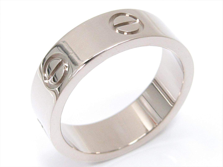 【中古】カルティエ ラブリング 指輪 ユニセックス K18WG(750) ホワイトゴールド