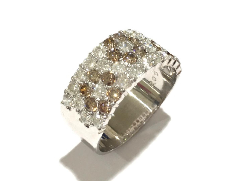 【中古】ジュエリー ダイヤモンドリング 指輪 レディース K18WG(750) ホワイトゴールド×ダイヤモンド(2.00ct)