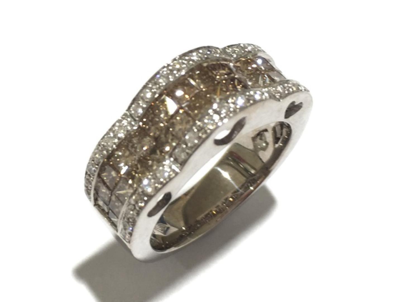 【中古】ジュエリー ダイヤモンドリング 指輪 レディース K18WG(750) ホワイトゴールド×ダイヤモンド(石目無し)