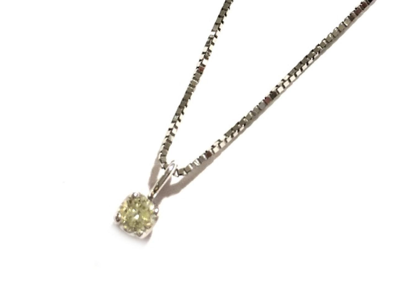 【中古】ジュエリー ダイヤモンドネックレス レディース K18WG(750) ホワイトゴールド×ダイヤモンド