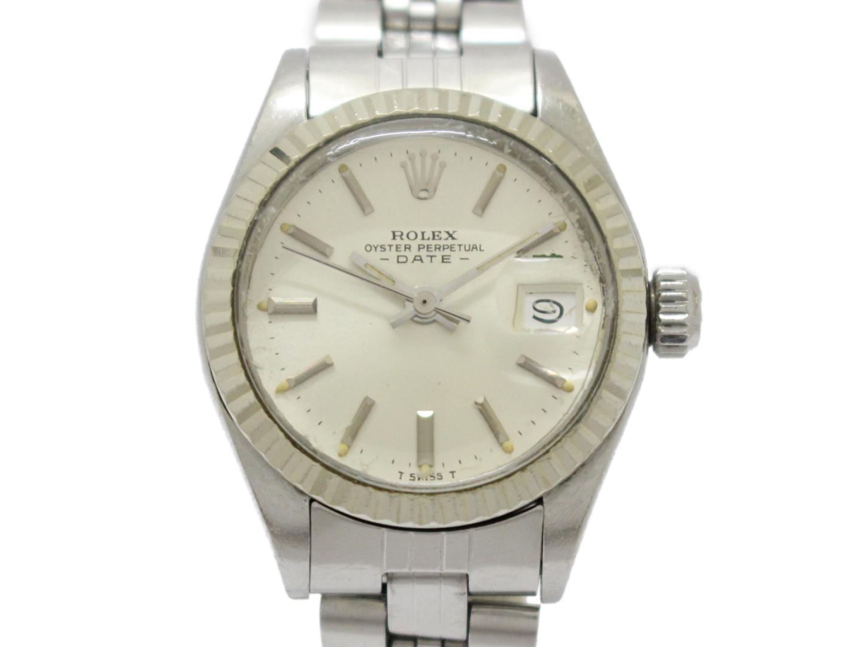 【中古】ロレックス デイトジャスト レディース ウォッチ 腕時計 レディース K18WG(750)ホワイトゴールド×ステンレススチール(SS) (6917)