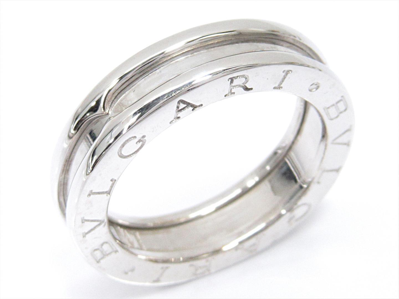 【中古】ブルガリ B-zero1 ビーゼロワンリング 指輪 XS ユニセックス K18WG(750) ホワイトゴールド