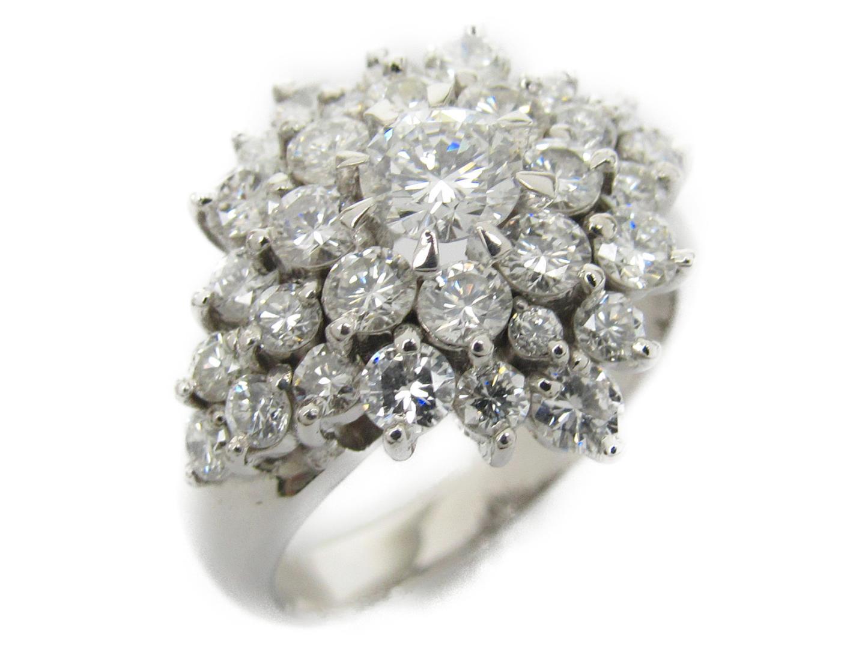 【中古】ジュエリー ダイヤモンド リング 指輪 レディース PT900 プラチナxダイヤモンド1.73/0.387ct