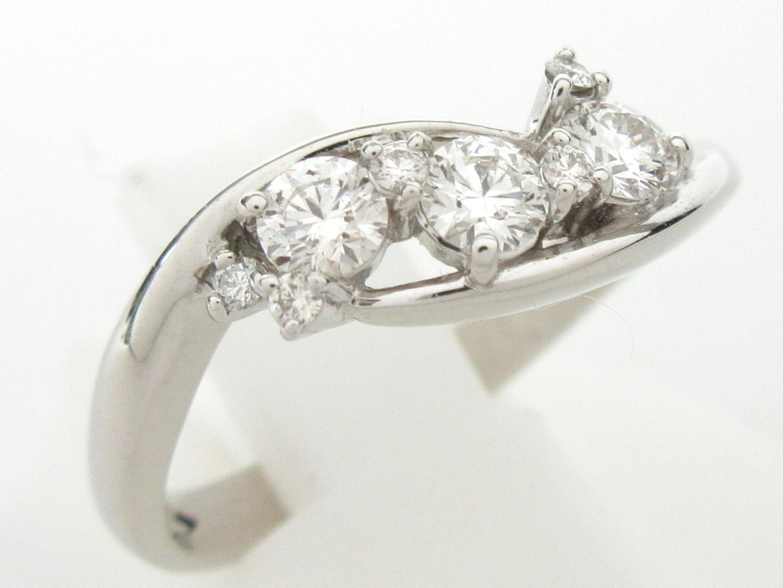 【中古】ジュエリー ダイヤモンド リング 指輪 レディース PT900 プラチナ x ダイヤモンド(0.34ct)