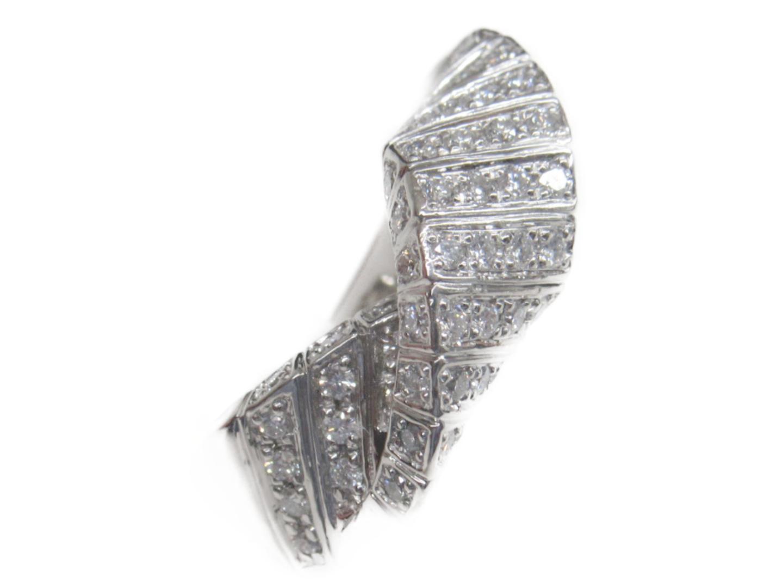 【中古】ジュエリー ダイヤモンドリング 指輪 レディース PT900 プラチナxダイヤモンド シルバー