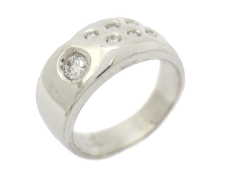 【中古】ジュエリー ピンクサファイア リング 指輪 レディース K18WG(750) ホワイトゴールド×ピンクサファイア(石目なし) ピンク×クリアー