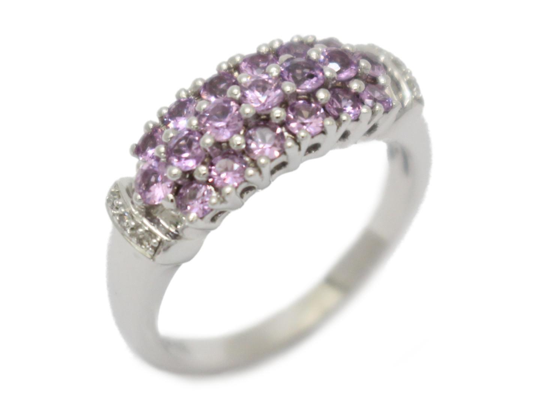 【中古】ジュエリー ダイヤモンド リング 指輪 レディース PT900 プラチナ×ダイヤモンド(0.37ct)
