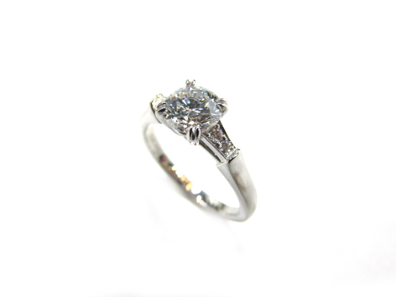 【中古】ハリーウィンストン トリストリング ダイヤモンド レディース PT950 プラチナ×ダイヤモンド(0.80)