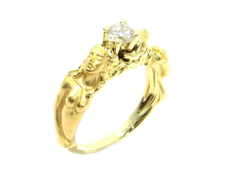 【中古】カレライカレラ ダイヤモンドリング 指輪 レディース K18YG(750) イエローゴールド×ダイヤモンド(0.324ct ) クリアー×ゴールド
