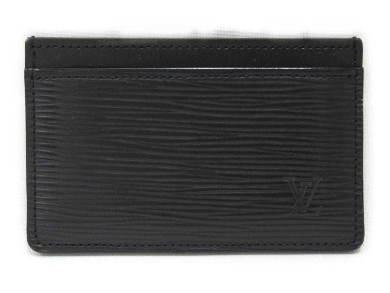 【中古】ルイヴィトン ポルトカルト・サーンプル カードケース ユニセックス エピ ノワール (M63512)