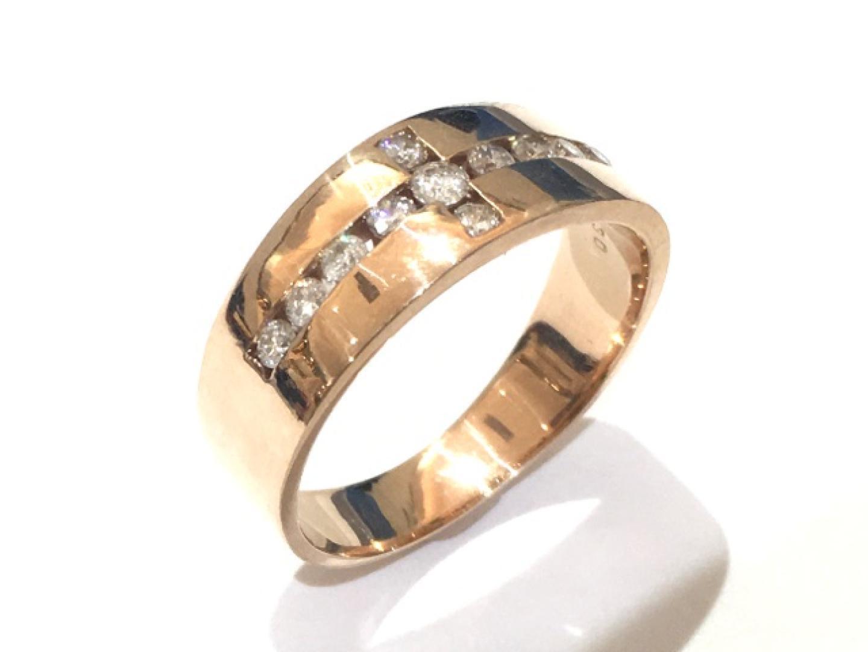 【中古】ジュエリー ダイヤモンド リング 指輪 ユニセックス K18PG(750) ピンクゴールド×ダイヤモンド0.30ct