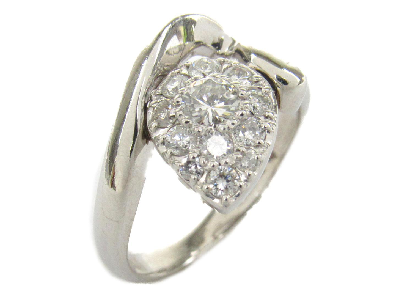 【中古】【送料無料】ジュエリー ダイヤモンド リング 指輪 レディース PT900 プラチナ x ダイヤモンド0.50ct   JEWELRY リング リング 美品 ブランドオフ BRANDOFF