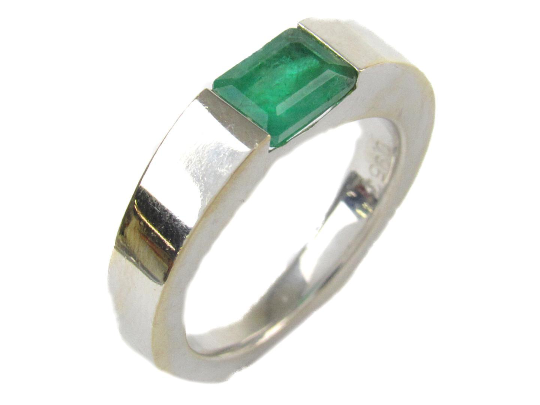【中古】【送料無料】ジュエリー エメラルド リング 指輪 メンズ レディース K18WG (750) ホワイトゴールド x エメラルド0.953ct | JEWELRY リング 18K K18 18金 リング 美品 ブランドオフ BRANDOFF