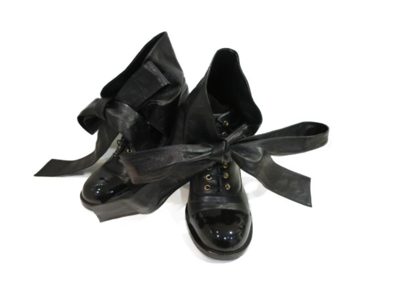 【中古】【送料無料】シャネル ブーツ レディース レザー パテント ブラック | CHANEL くつ 靴 ブーツ 美品 ブランド ブランドオフ BRANDOFF