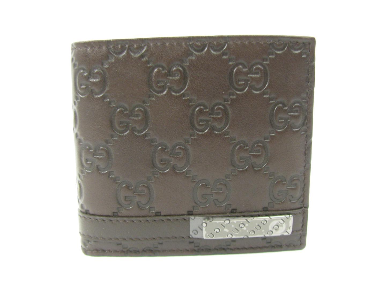 【送料無料】グッチ 二つ折財布 メンズ Xグッチシマレザー ブラウン (233102AA61R2019) | GUCCI 財布 二つ折財布(7) 新品 ブランド ブランドオフ BRANDOFF