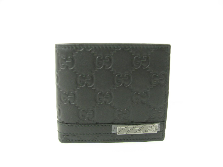 【送料無料】グッチ 二つ折財布 メンズ Xグッチシマレザー ブラック (233102AA61R1000) | GUCCI 財布 二つ折財布(6) 新品 ブランド ブランドオフ BRANDOFF