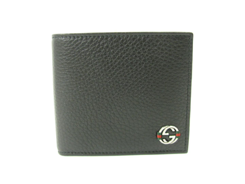 【送料無料】グッチ 二つ折財布 メンズ レザー ブラック (308795A7MMN1060) | GUCCI 財布 二つ折財布(20) 新品 ブランド ブランドオフ BRANDOFF
