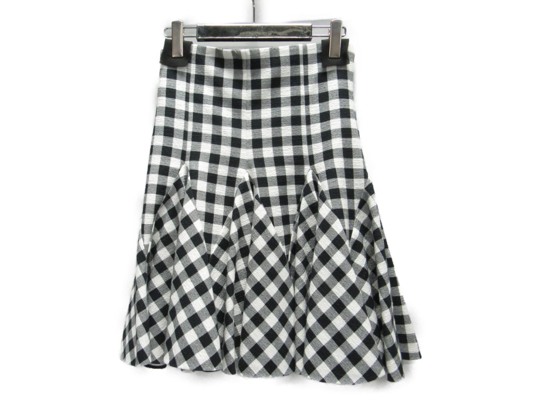【中古】ドルチェ&ガッバーナ スカート レディース アセテート(65%)xシルク(35%) ブラック × ホワイト (F4Y08T) | DOLCE & GABBANA 衣類 スカート 美品 ブランド ブランドオフ BRANDOFF