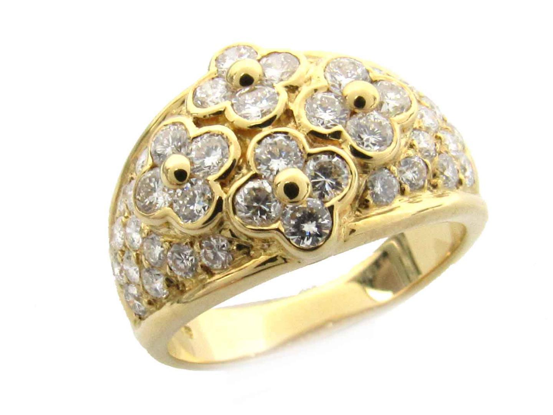【中古】【送料無料】ジュエリー ダイヤモンド リング 指輪 レディース k18YG (750) イエローゴールド x ダイヤモンド (1.24ct)   JEWELRY リング K18 18K 18金 リング 美品 ブランドオフ BRANDOFF