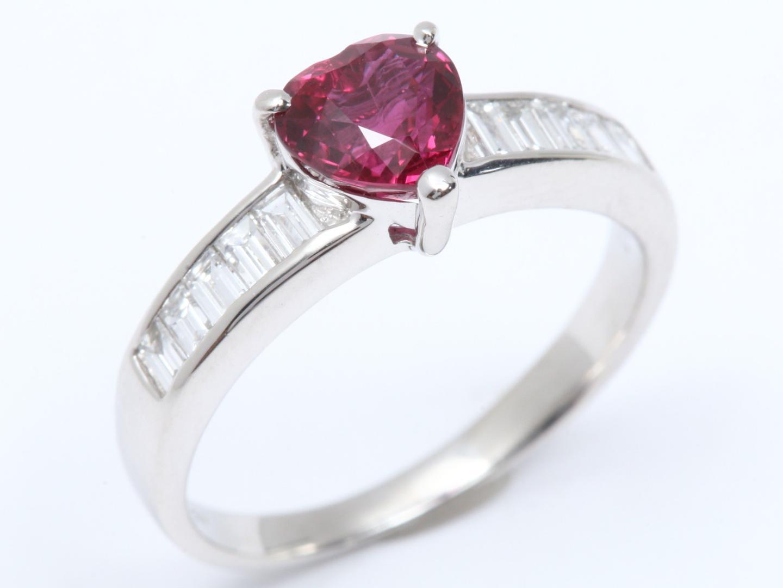 【中古】【送料無料】ジュエリー ルビー ダイヤモンド リング 指輪 レディース PT900 プラチナ x ルビー (1.181ct) x ダイヤモンド (0.31ct) | JEWELRY リング リング 美品 ブランドオフ BRANDOFF