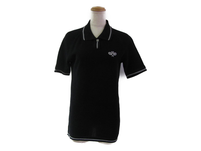 【中古】シャネル 06P ポロシャツ レディース コットン ブラック | CHANEL 衣類 06P ポロシャツ 美品 ブランド ブランドオフ BRANDOFF