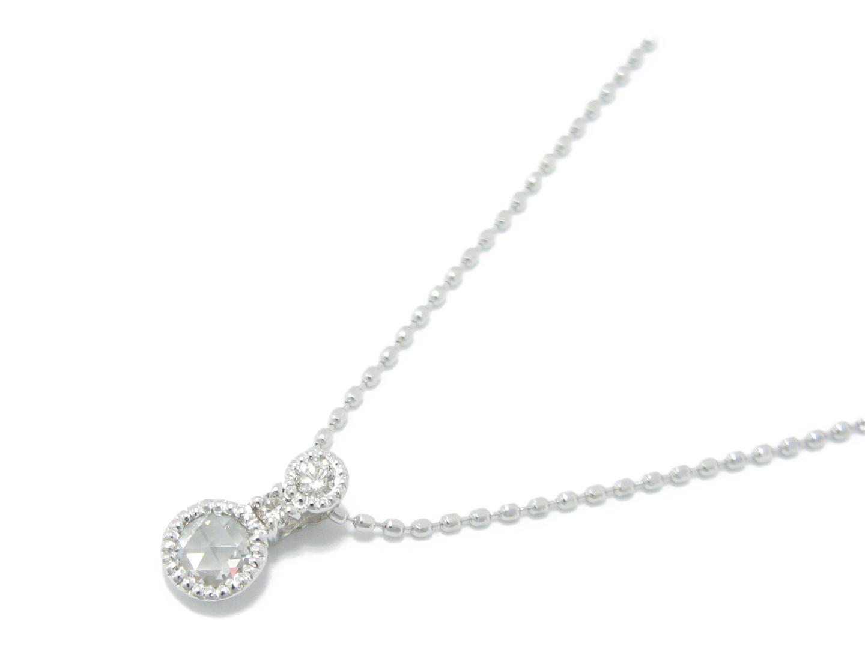 【中古】ジュエリー ダイヤモンド ネックレス レディース K18WG (750) ホワイトゴールド x ダイヤモンド (0.11/0.04ct) | JEWELRY ネックレス K18 18K 18金 美品 ブランドオフ BRANDOFF