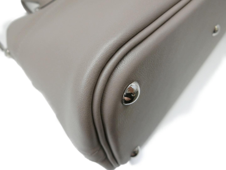【】エルメスボリード27ハンドバッグレディーススイフトグリスアスファルト(シルバー金具)