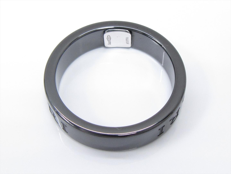 3fb0f6ff032f ... ブルガリダブルロゴリング指輪ユニセックスK18WG(750)ホワイトゴールドx ...