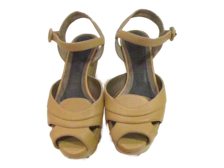 【中古】 セレクション MARNI サンダル レディース レザー ベージュ | SELECTION くつ 靴 MARNI サンダル ブランド ブランドオフ BRANDOFF