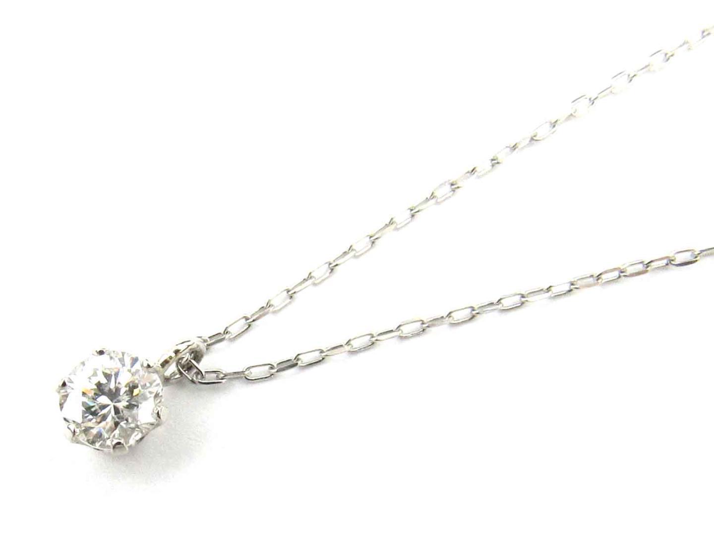【送料無料】 ジュエリー 一粒ダイヤモンド ネックレス レディース PT900 プラチナ x PT850 プラチナ x ダイヤモンド (0.208ct) | JEWELRY ネックレス ネックレス 新品 ブランドオフ BRANDOFF