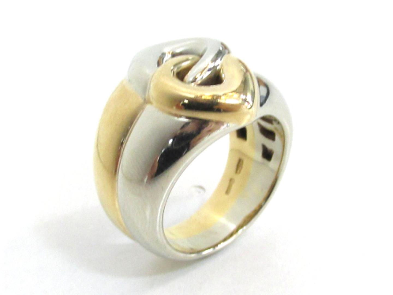 edab0e399146 【中古】【送料無料】 ブルガリ ドッピオクオーレ リング 指輪 レディース K18YG (750