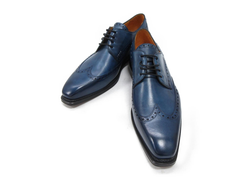 セレクション Canto de' Ricci ウイングチップシューズ メンズ レザー ブルー | SELECTION くつ 靴 新同 ブランドオフ