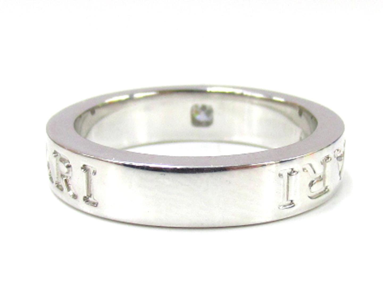 ff2f5d6425a7 ... ブルガリダブルロゴダイヤモンドリング指輪ユニセックスK18WG(750)ホワイトゴールド ...