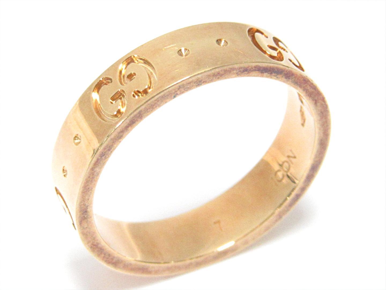 e453c887e0 (750) K18YG レディース メンズ 指輪 アイコンリング 【中古】グッチ イエローゴールド BRANDOFF ブランドオフ アイコンリング  リング GUCCI  -指輪・リング