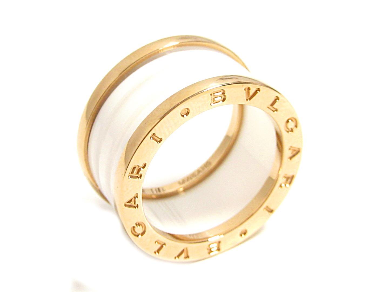 【中古】【送料無料】 ブルガリ B-zero1 リング 指輪 メンズ レディース K18PG (750) ピンクゴールド × セラミック (AN855564) | BVLGARI リング B-zero1 リング 美品 ブランドオフ BRANDOFF