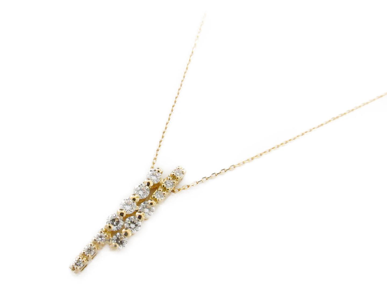 【送料無料】 ジュエリー ダイヤモンド ネックレス レディース K18YG (750) イエローゴールド x ダイヤモンド0.33ct | JEWELRY ネックレス K18 18K 18金 ネックレス ブランドオフ BRANDOFF