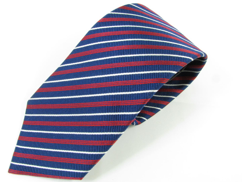 アルマーニ ネクタイ メンズ シルク ネイビー × レッド × ホワイト | ARMANI ネクタイ ネクタイ ブランドオフ BRANDOFF