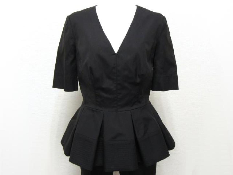 【中古】バレンシアガ ブラウス レディース コットン ブラック   BALENCIAGA 衣類 ブラウス 美品 ブランドオフ BRANDOFF