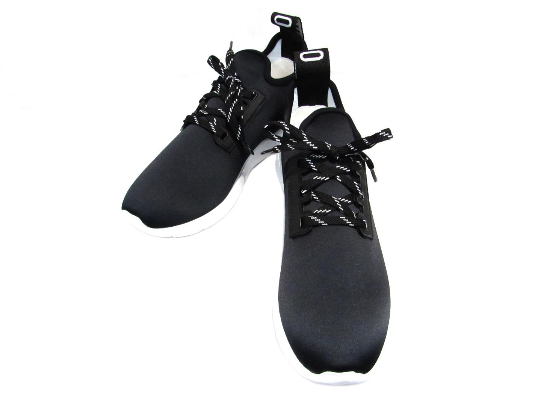 モスキーノ スニーカー レディース ナイロン ブラック x ホワイト | MOSCHINO くつ 靴 スニーカー ブランドオフ
