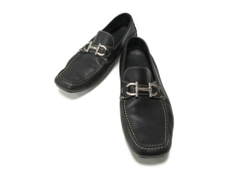 【中古】 サルヴァトーレ・フェラガモ ローファー メンズ レザー ブラック | Salvatore Ferragamo くつ 靴 靴 ブランドオフ BRANDOFF