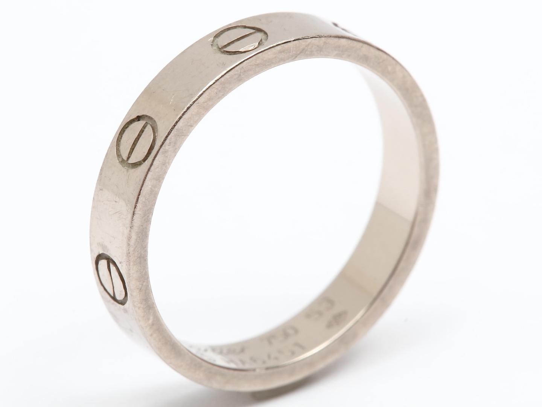 【中古】【送料無料】 カルティエ ミニラブリング 指輪 レディース K18WG (750) ホワイトゴールド | Cartier リング ミニラブリング 美品 ブランドオフ BRANDOFF