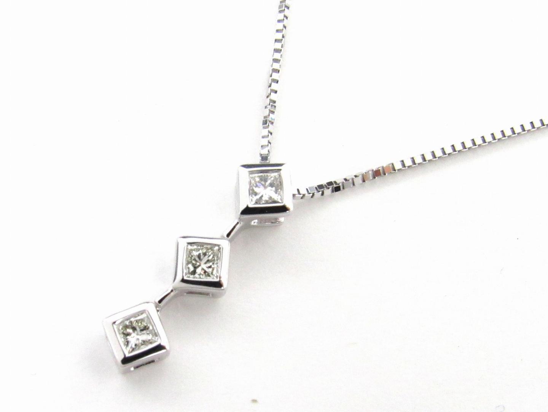 【送料無料】 ジュエリー ダイヤモンド ネックレス レディース K18WG (750) ホワイトゴールド x ダイヤモンド0.25ct | JEWELRY ネックレス ネックレス 新品 ブランドオフ BRANDOFF
