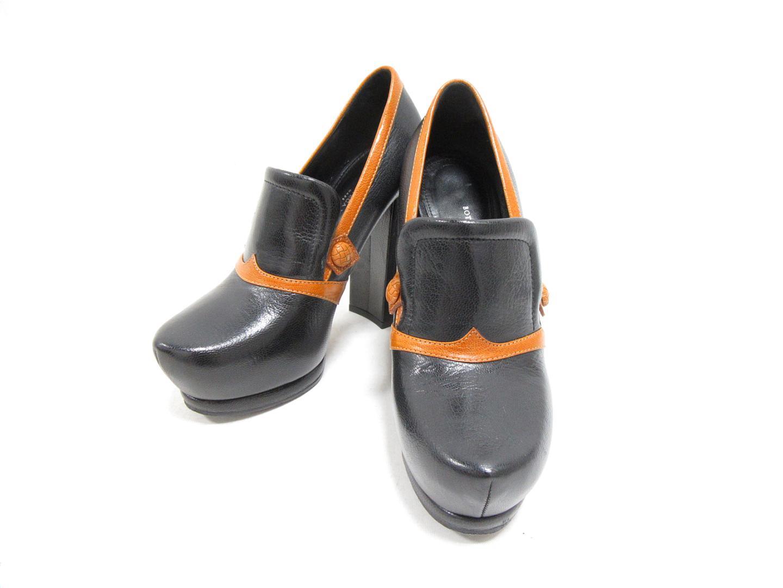 【中古】 ボッテガ・ヴェネタ ヒールパンプス レディース レザー ブラック x ブラウン | BOTTEGA VENETA くつ 靴 ハイヒール 美品 ブランドオフ BRANDOFF