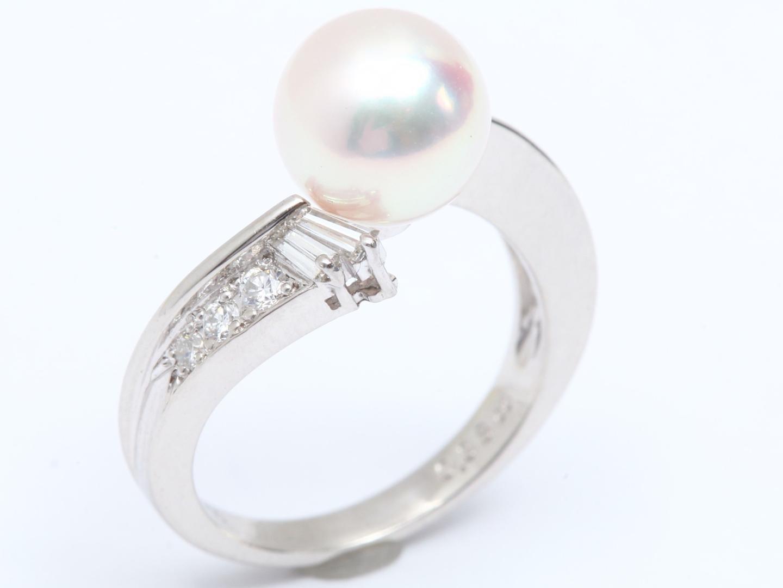 【中古】 ジュエリー パール ダイヤモンド リング 指輪 レディース PT900 プラチナ x パール x ダイヤモンド (0.38ct) | JEWELRY リング 美品 ブランドオフ BRANDOFF