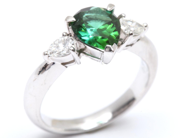 【中古】【送料無料】 ジュエリー トルマリン ダイヤモンド リング 指輪 レディース PT900 プラチナ x トルマリン (1.43ct) x ダイヤモンド (0.38ct) | JEWELRY リング 美品 ブランドオフ BRANDOFF